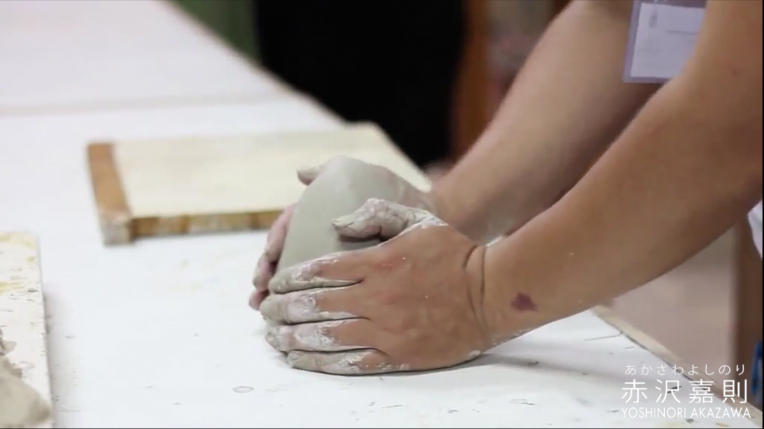 Yoshinori Akazawa in Tunisia 2013 international ceramic symposium