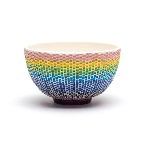 交趾モザイク茶碗 『吉野』Kōchi mosaic tea-bowl 'Yoshino'