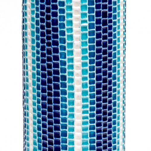 ルリ交趾モザイク花入 A Ruri Kōchi mosaic Vase A