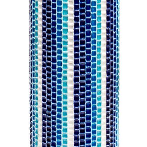ルリ交趾モザイク花入B Ruri Kōchi mosaic Vase B