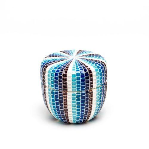交趾モザイク茶器 Kōchi mosaic tea jar