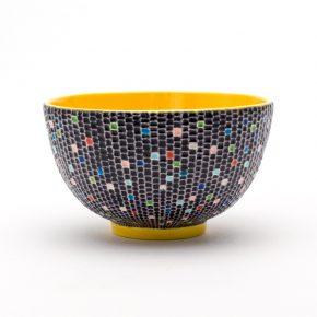 交趾モザイク茶碗 『時雨』Kōchi mosaic tea-bowl 'Shigure' Winter Rain