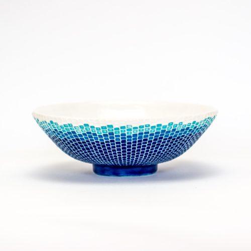 交趾モザイク茶碗『夏涛』Kōchi mosaic tea-bowl 'Natsu-nami' Summer Wave