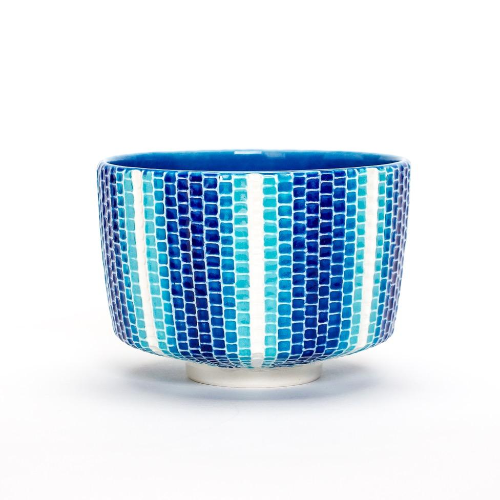 交趾モザイク茶碗『光陰』Kōchi mosaic tea-bowl 'Kō-in' Light & Shadow